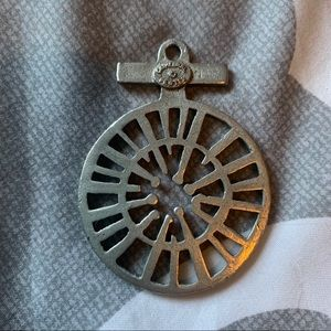 Jewelry - Cathedral pewter compass pendant